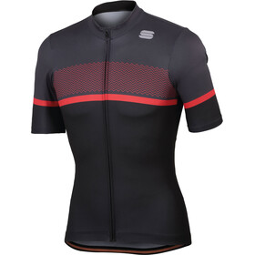 Sportful Frequence Jersey Men black/anthracite/red